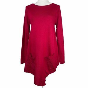 Olivia & Grace NWT Red Asymmetrical Sweater Tunic